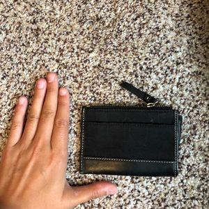 Black Coin Or Card Coach Purse